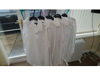 5 x Asda Long Sleeve White Shirts - 15.5""
