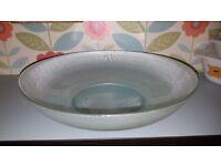Duck egg blue dish (fruit bowl)