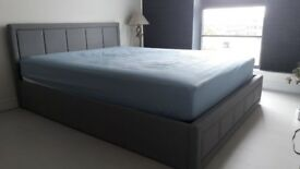 King size Ottoman bed with Ikea mattress - only few months old !!!