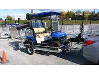 8x5 flatbed trailer with ramp for moving quads lawnmowers buggies