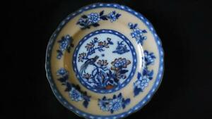 england new stone co willow flowers plate