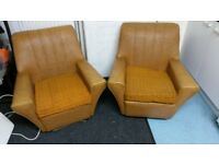 Pair of retro / vintage armchairs