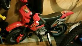 Childrens childs kids electric motorcycle bike motorbike motocross