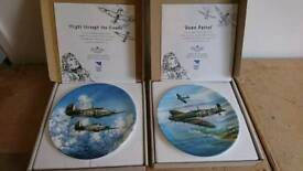 Spitfire and hurricane collectors plates