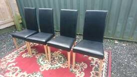 Dining chairs X 4 from NEXT