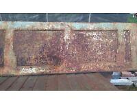 Art Deco bath panel, steel,