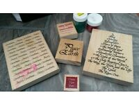 Christmas craft stamps card making