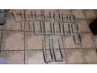 16 Manhole step irons - unused