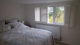 Large double room with ensuite, close to station, available weekdays (inc bills)