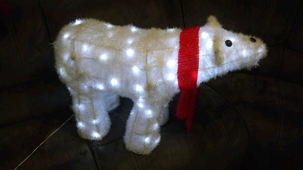 Large Led Polar Bear Outdoor Christmas Decoration In Swindon