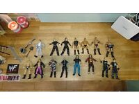 Wwf(wwe) wrestling figures and weapons