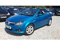 Vauxhall TIGRA 1364cc Petrol, Convertible, , Blue, 2005(05) Low Mileage Mot Expires: 18 July 2017