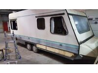 Twin axle caravan shell