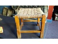 Old seagrass/wicker stool