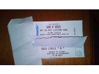 2x Guns N Roses Slane Golden Circle B tickets