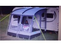 KAMPA RALLY PRO 260 PORCH AWNING FOR TOURING CARAVAN - HARDLY USED.
