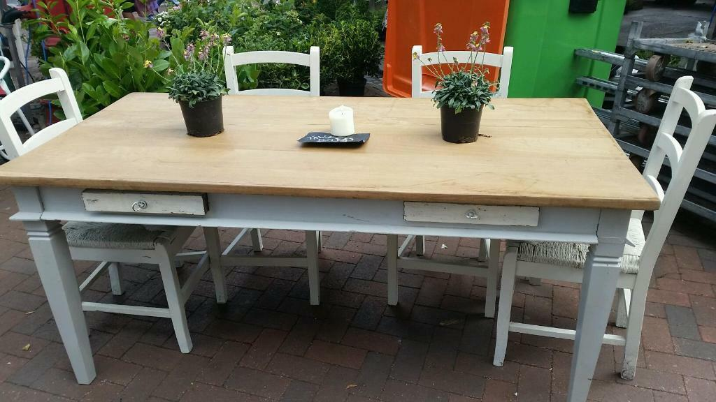 farmhouse table and chairs in faversham kent gumtree