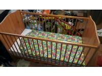 baby cot with mother care matress