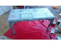 Shabby chic upcycled quality solid wood coffee table