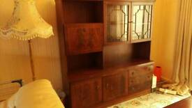 Mahogany Glass Dresser