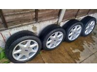 "Ford RS7 style 15"" alloy wheels and tires"