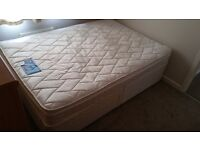 Silent Night double divan bed with 2 drawers and pillow top mattress