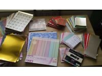 Job lot of Card/Paper for card making scrapbooking crafts inc glitter and christmas