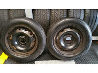 175 65 14 2 x tyres Uniroyal RainExpert 3 + 2 x steel wheels Citroen,Peugeot..