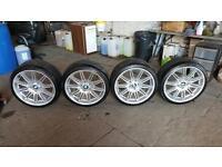 Bmw msport MV4 alloys with run flat tyres