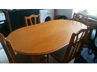 Pine Dining table and 4 chairs *quick sale*