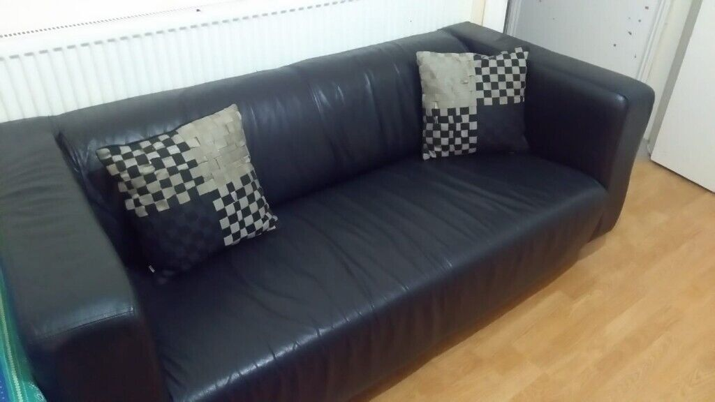 Fabulous Black 3 Seater Sofa In Eastbourne East Sussex Gumtree Pabps2019 Chair Design Images Pabps2019Com
