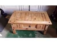 ALL WOOD RUSTIC coffee table