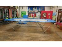 Gymnastics/School Trampoline with cover. Excellent condition. Easy to move and fold/open. Ceetex 77