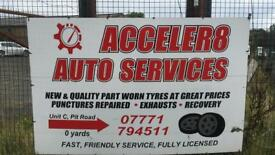 Quality part worn tyres - CARS VANS 4x4 - call or text with your tyre suze