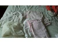 Cot bedding bundle white and pink