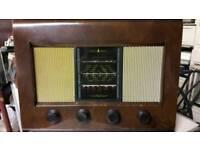1953 Bush Radio AC11 Wood Cased Valve Radio