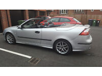 2004 SAAB 9-3 Aero 210BHP, CONVERTIBLE 2.0 Petrol, MOT until 2017.10.05. Good condition