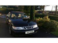 Iconic Black Saab Convertible 2000. Sorned. Fox sport alloys and 4 new tyres. Low miles.