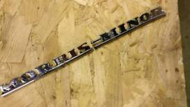 Morris minor chrome badge