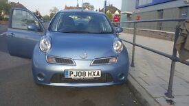 Immaculate 2008 Automatic*Nissan Micra Acenta+ (80)*1.2L Petrol*32000 miles*5drs*MOT till March 2017