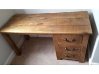 Solid Wood Chunky Desk with 3 drawers
