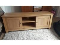Oak effect sideboard tv unit storage