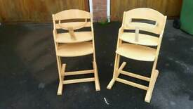 2 x Baby Dan high chairs