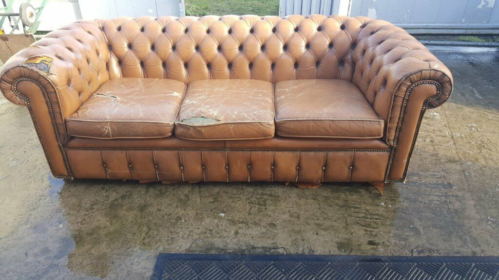 Cool A Tanny Gold Leather Chesterfield Sofa In Sandwell West Midlands Gumtree Gmtry Best Dining Table And Chair Ideas Images Gmtryco