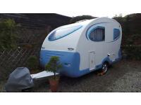 Rare, iconic, tear drop, lightweight Adria Action caravan