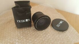 Fisheye lens with Macro attachment - 52/58mm 0.40x high definition for DSLR Cameras