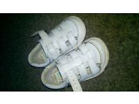white clarks shoes