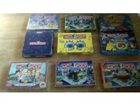 19 x monopoly games chester & cheshire ,spongbob , duel masters ,devon ,cornwall