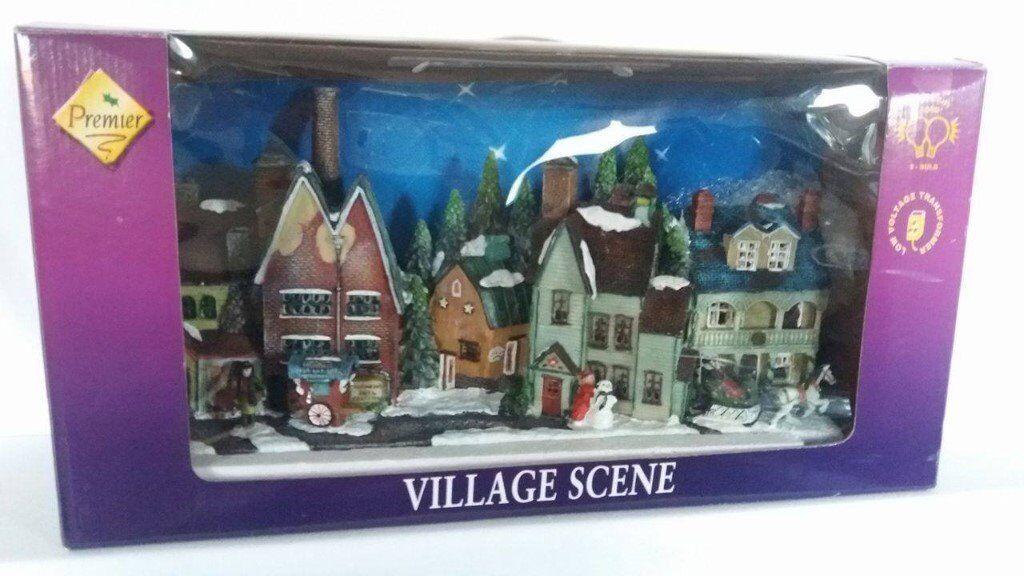 Premier Christmas Village Scene Ornament Decoration (50cm) Xmas
