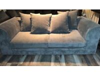 3 seater grey sofa. Excellent condition comes with 5 cushions which are removable to wash